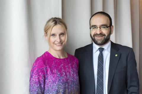 Emma Jonsteg och Mehmet Kaplan