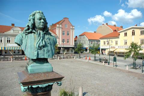 Stora torget - platsen för det stora firandet av Alingsås 400-årsjubileum