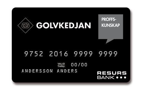 Resurs Bank och Golvkedjan inleder samarbete inom kundfinansiering och lojalitetsprogram