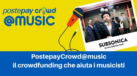 Con PostepayCrowd@Music Poste Italiane in collaborazione con Visa sostiene i progetti musicali e lancia un concorso tra band che mette in palio il palco del PostePay Rock in Roma