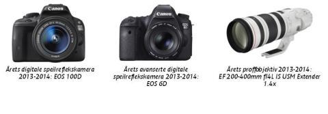 Inspirasjon til å ta neste steg: Canon mottar prestisjefylte EISA-utmerkelser for produkter i nybegynner-, entusiast- og proffklassen