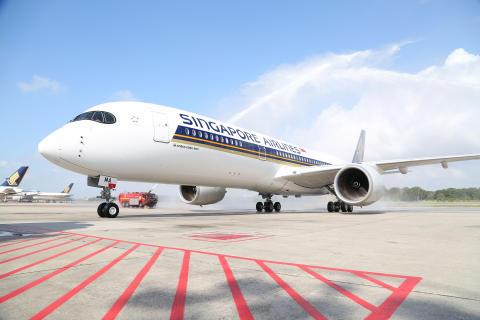 SINGAPORE AIRLINES FÖRSTA A350-900 ÄR LEVERERAT