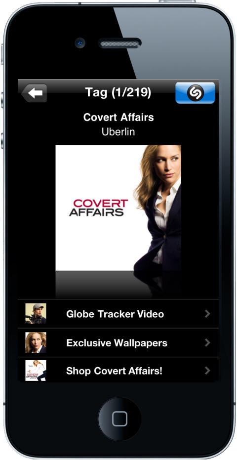 Shazam Makes Season 2.5 of USA Network's COVERT AFFAIRS Shazamable