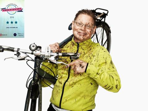 Västsveriges cykelvänligaste arbetsplats utsedd! Gissar vem vann? Yes, vi!