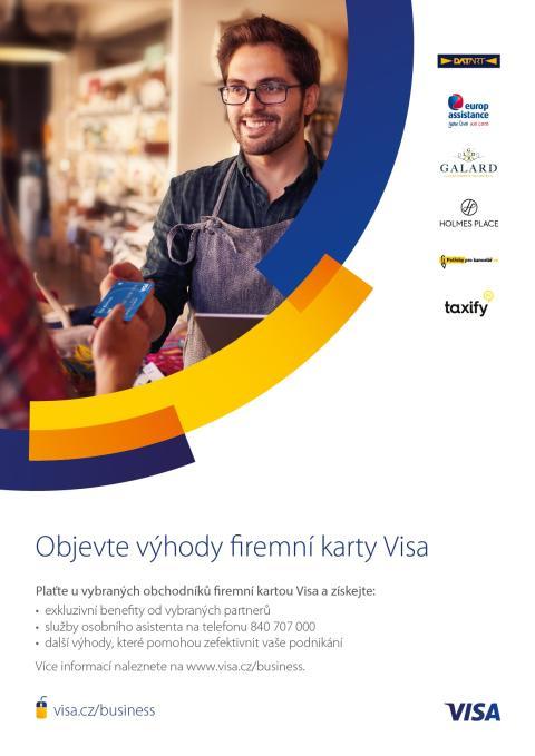 Visa představuje benefity pro držitele firemních karet