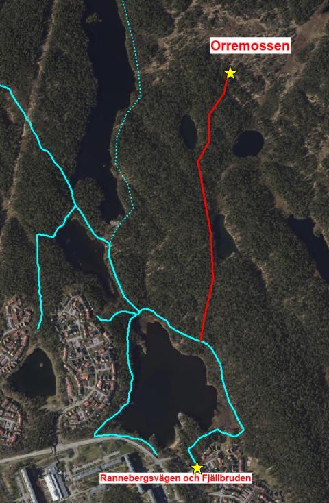 Karta, hitta till Orremossen