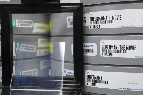 Project Silica_Movie stored on glass and film reels_Photo by John Brecher