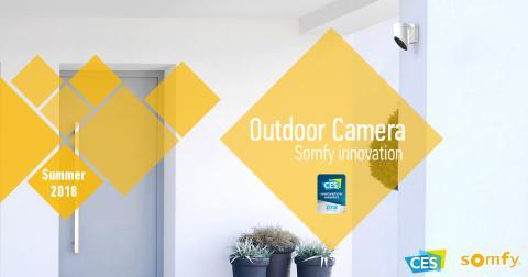 Skräm bort inbrottstjuvarna med Somfys nya övervakningskamera för utomhusbruk