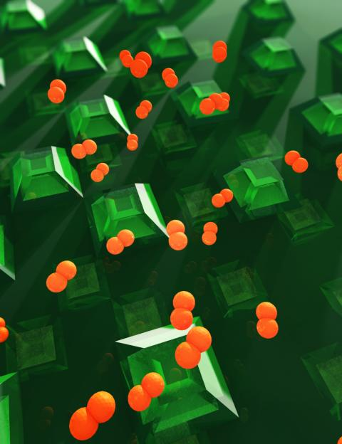 En illustration av den chalmersutvecklade vätgassensorn