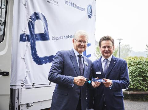 Wiehl nimmt als erste Stadt Deutschlands einen elektrisch umgerüsteten Transporter mit Antriebsachse von BPW in Betrieb