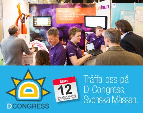 Träffa oss på D-Congress 12 mars!