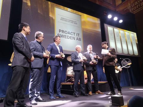 5 vinnare Gulddraken 2020 - Service Capability Partner of the Year