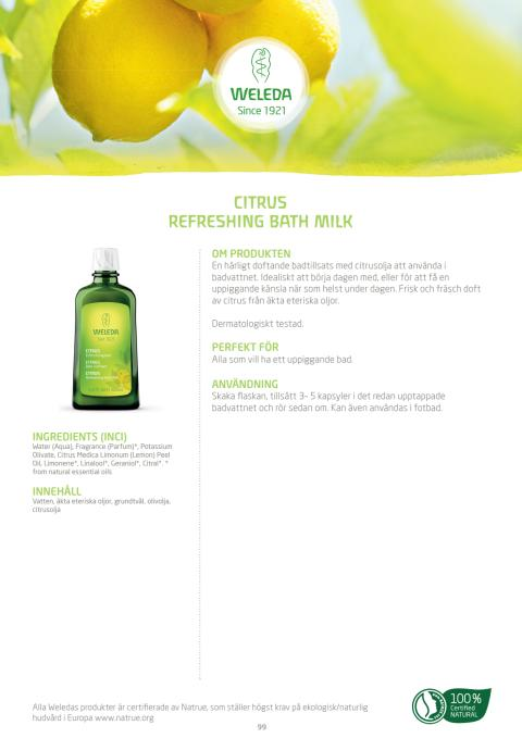 Citrus Refreshing Bath Milk
