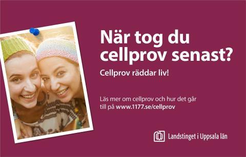 Landstingets kampanj för cellprovtagning