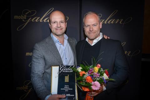 Widespace prisas för Årets Mobila marknadsföring på Mobilgalan