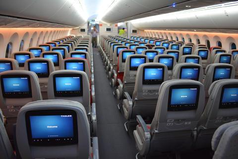 Boeing 787 Dreamliner cabin