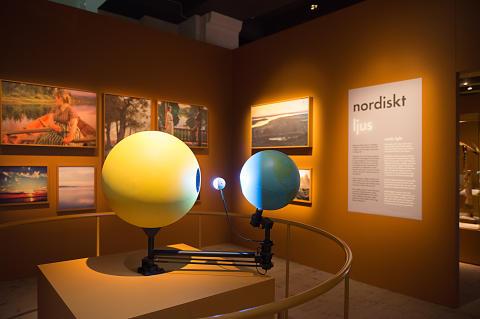 Från utställningen Nordiskt ljus På Nordiska museet, foto Karolina Kristensson, Nordiska museet