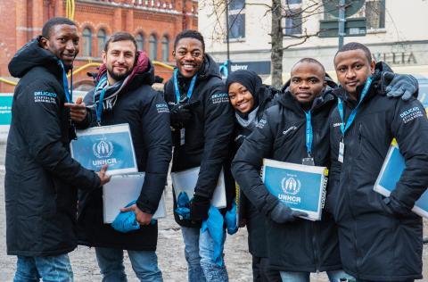 Delicato och Stiftelsen Einar Belvén skänker en miljon kronor till Sverige för UNHCR