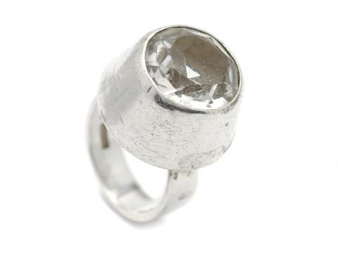 Moderna 13/9, Nr: 51, RING, silver, bergkristall, design Pege, Alton Falköping 1966