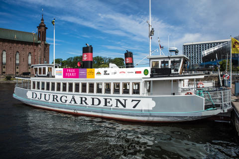 Pressinbjudan: Ny gratisfärja till Djurgården i sommar. Häng med på premiärturen den 28 juni!
