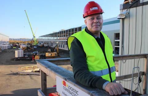 Jonas Ganefalk är projekteringsledare för Logistic Contractors projekt för Prologis.