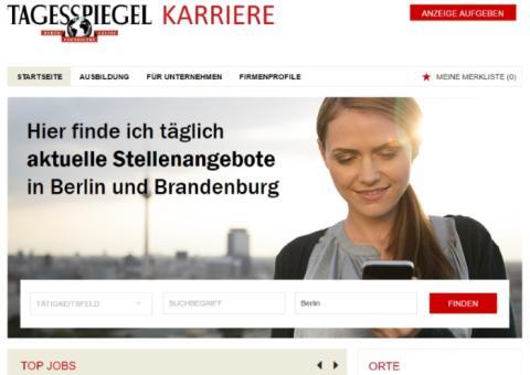 Tagesspiegel Karriere: Der neue Online-Stellenmarkt für die Hauptstadt
