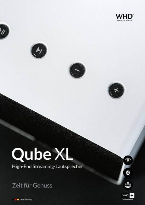 Qube XL High End Streaminglautsprecher aus Aluminium