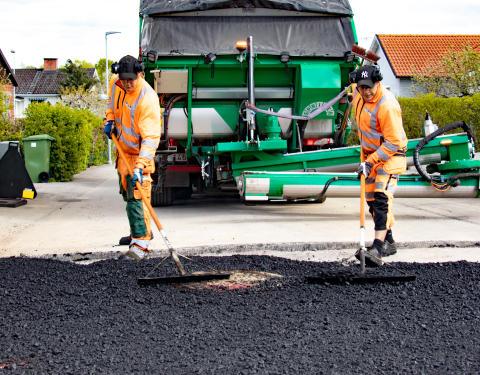 Peab Asfalt utför underhållsbeläggningar i Strömsunds kommun