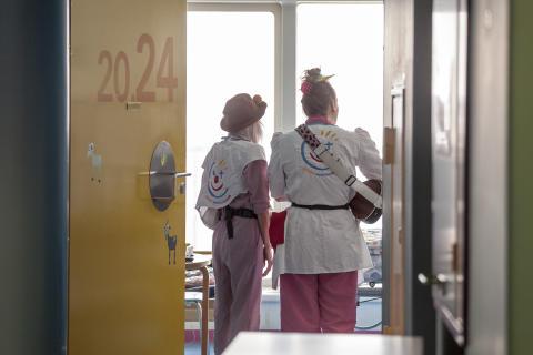 Hospitalsklovnen Basta og Flip på Herlev Børneafdeling