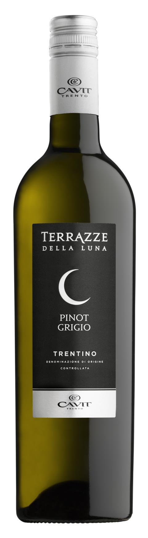 Den 1:a juni lanseras Terrazze della Luna Pinot Grigio DOC Trentino 2018 i samtliga butiker!