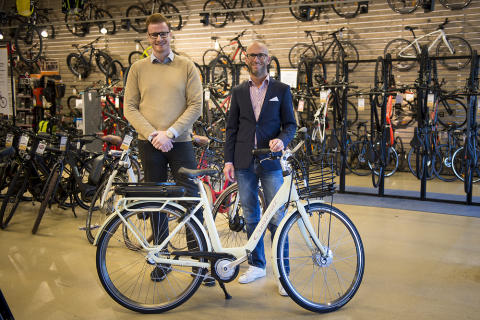 Spotlight on the electric bicycle at the Cycleurope annual trade show – Resurs Bank and Solid Försäkring were there