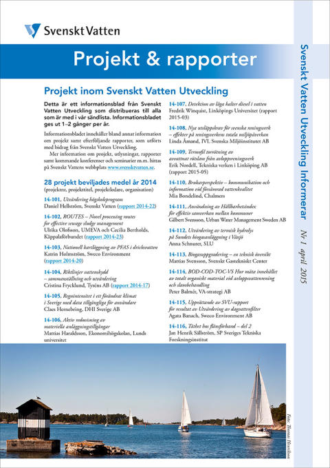 SVUs informationsblad nr 1, april 2015