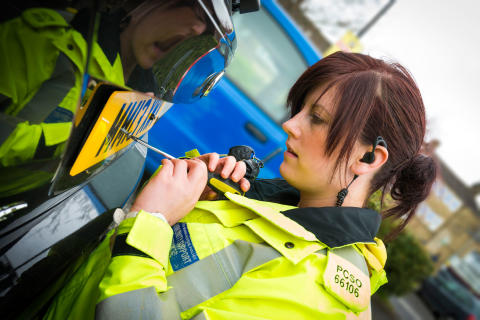 Police Communtity Safety Officers provide a Safe-Plating service to local residents.