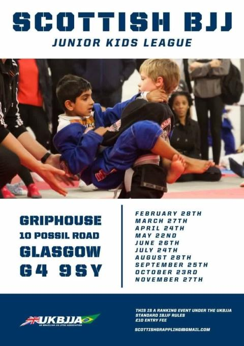First ever Scottish Kids BJJ League on Sunday 28th February