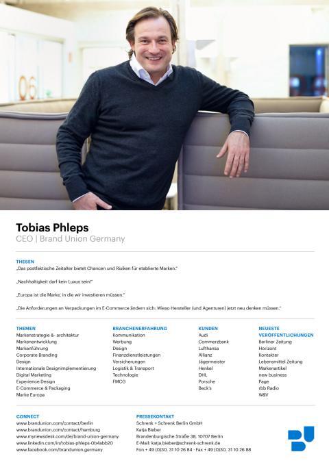 Sedcard Tobias Phleps, Chief Executive Officer