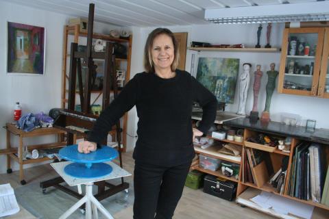 Marianne Degerman bjuder in till sin ateljé på Vinterspår