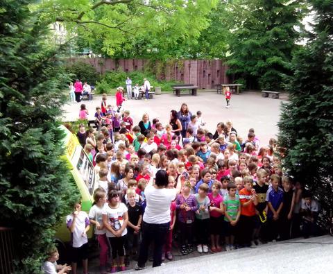 77. Grundschule in Leipzig läuft für Bärenherz
