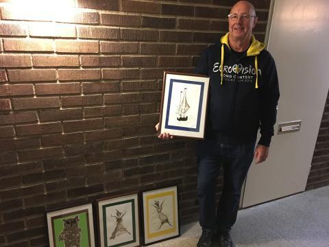 4 tavlor av Emil Muresan köptes av Hasse Gustafsson från Upplads Väsby