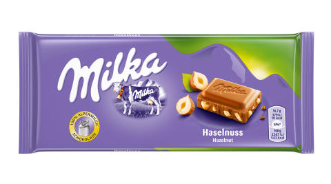 Informace o stažení tabulkové čokolády  Milka Hazelnut 100 g