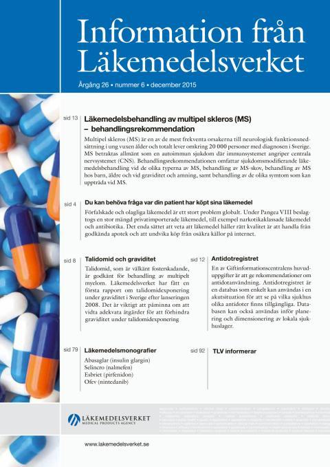 Information från Läkemedelsverket nr 6 2015