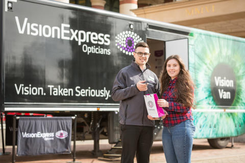 Eye health on the agenda as Vision Express Vision Van visits Manchester