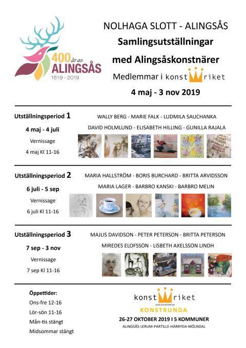 Konstutställning Nolhaga slott Konstriket och Tornet