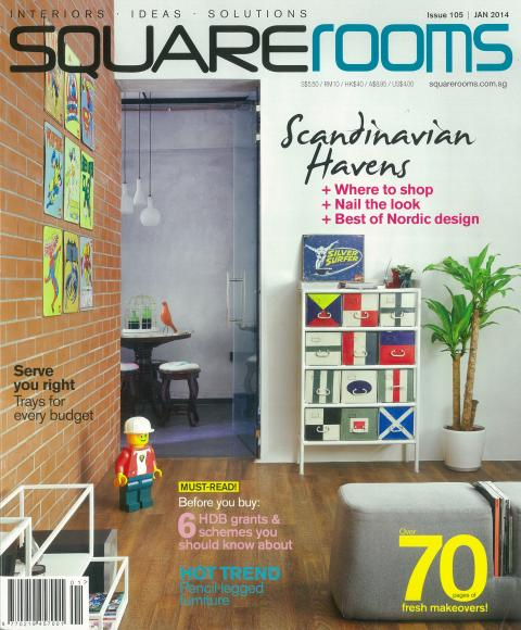 Evorich Flooring featured on Squarerooms Magazine Cover Page