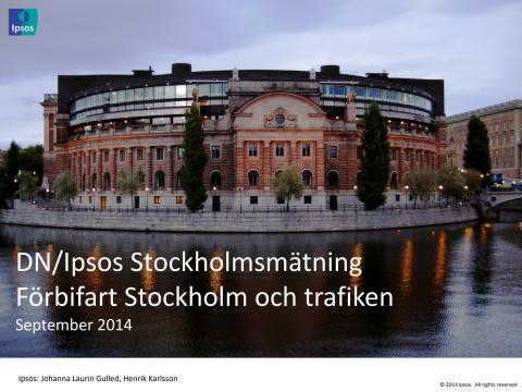 DN/Ipsos - Nästan sju av tio är för Förbifart Stockholm