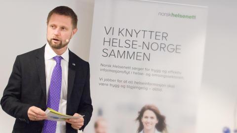 Statsråd Bent Høie åpnet tjenestesenteret i Norsk Helsenett