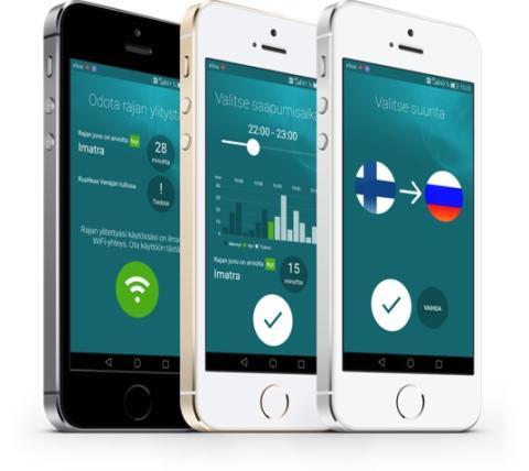 Imatran DigiLab-ryhmän -sovellus kertoo puhelimeen, milloin on paras aika ylittää raja.