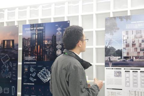 Utställning av förslagen i Skycity Challenge 19
