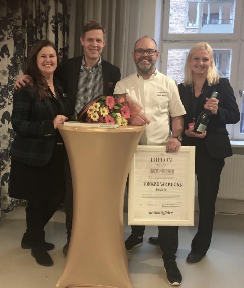 Rikard Wicklund från Wenngarn Hotell & Konferens vinner årets Möteskock 2017