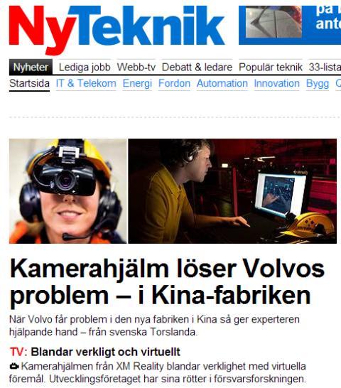 Volvo i Göteborg ger support till Chengdo via XMExpert