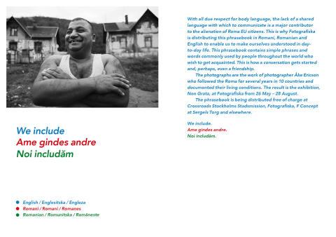 Fotografiska ger nu ut en parlör på romani, rumänska och engelska med hjälp av Crossroads, Stockholms Stadsmission.